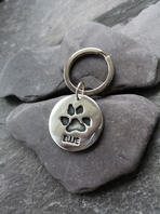 Large charm keyring with Stainless steel split ring (Paw)